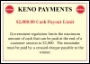 Image for A4 Keno Payout Limit Sign